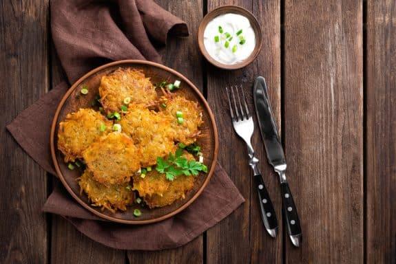 Kürbis Kartoffelpuffer