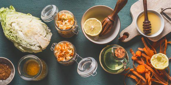 Frisches Salatdressing