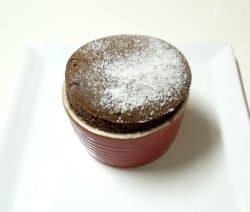 Schokoladen Souffle mit Cognac