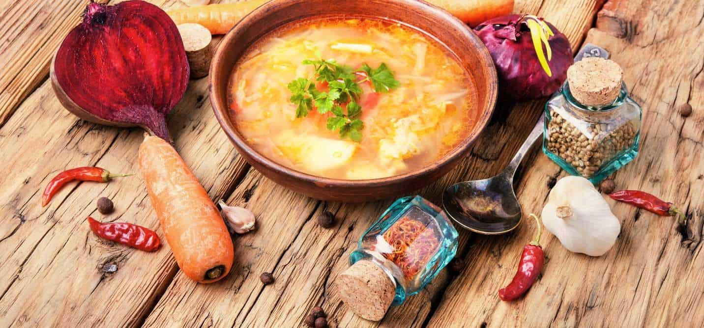 Russische, saure Suppe