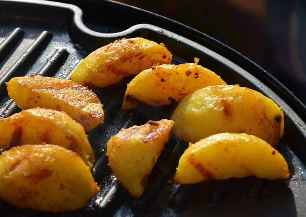 Kartoffelecken vom E-Grill