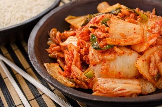 Leckere Kimchi nach traditioneller Zubereitung der koreanischen Küche