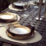 Einfache Tischdeko