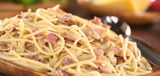 Teller mit Spaghetti alla Carbonara