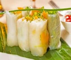 Leckere vietnamesische Sommerrollen vegetarisch