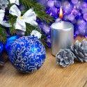 Weihnachtsdeko Blau/Lila